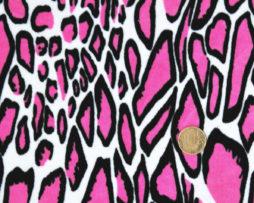 розовый набивной велюр оптом