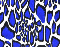 синий набивной велюр оптом