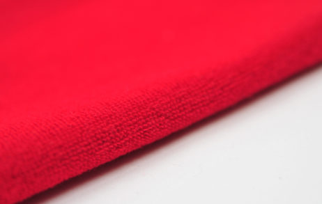 Красная махровая ткань оптом