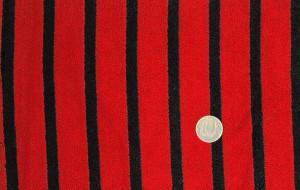 Полоска черная с красным