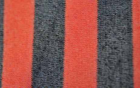 Махровая ткань набивная оптом - оранжевая полоска